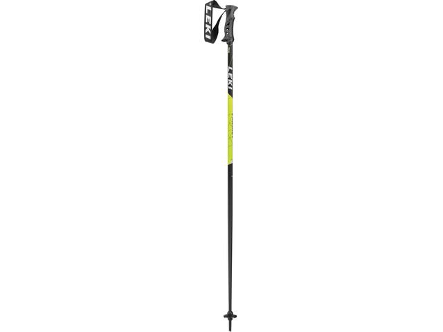 LEKI Primacy Ride Bastoncini da sci, black/white/neon yellow